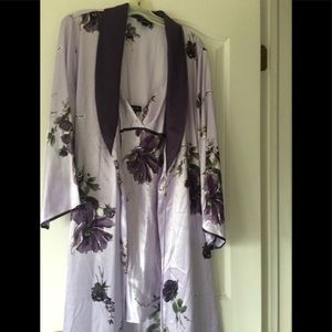 Long robe and gown set